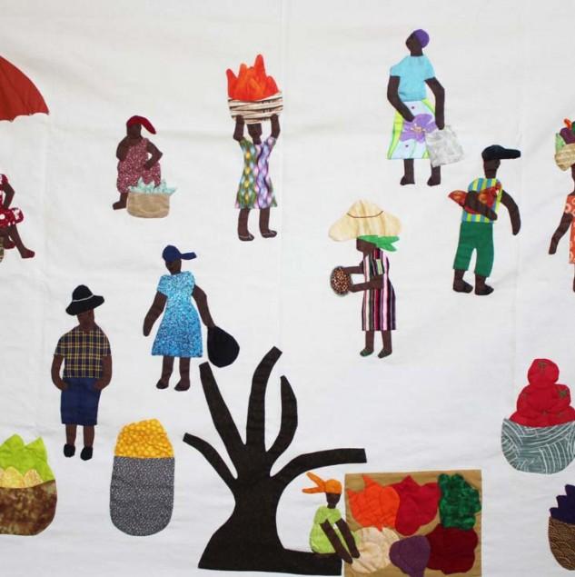 Quilting made by Haitian artisans Francesca Cartier