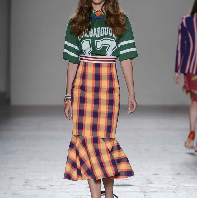 Stella Jean tartan skirt also worn by Beyonce Credit Stefano Guindani