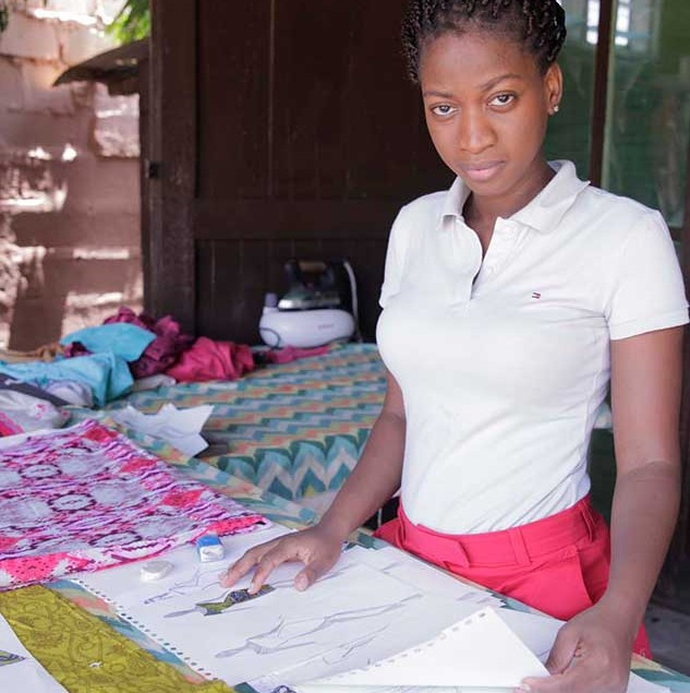 Nelly Hagan-Aboagye at her workshop in Accra © ITC Ethical Fashion Initiative