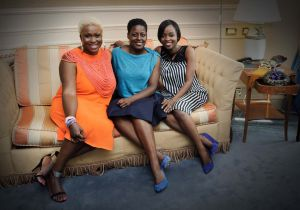 Anita Quansah, Afua Dabanka, Aisha Obuobi at Altaroma in June 2014 © GIANNI CATANI, ARIEL GABRIEL LA ROSA, LUCA SORRENTINO