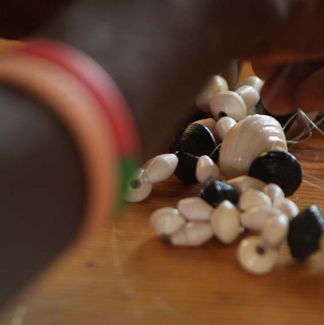 Osklen beadwork training in Haiti © ITC Ethical Fashion Initiative