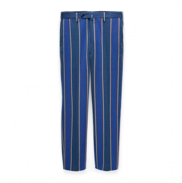 United Arrows TEGE trousers made with fabric handwoven by artisans in Burkina Faso part of the Ethical Fashion Initiative network © United Arrows