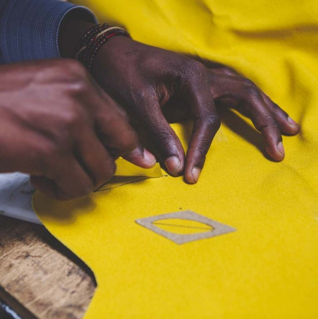 Vivienne Westwood and the Ethical Fashion Initiative are on a mission to bring the prime quality of artisanal-production back into the fashion business through hand-painted fabrics as pictured here. © Louis Nderi & ITC Ethical Fashion Initiative