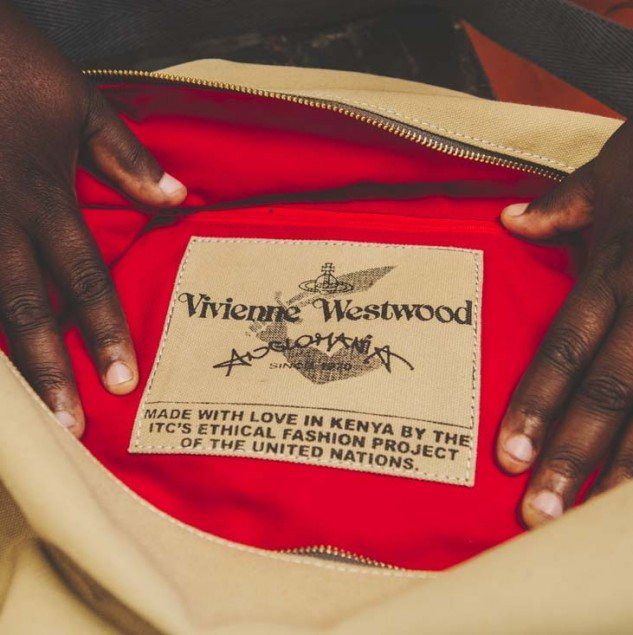 Traceability. Do you know where the bags you buy are made? This is a Vivienne Westwood bag made by artisan in Kenya. © Louis Nderi & ITC Ethical Fashion Initiative