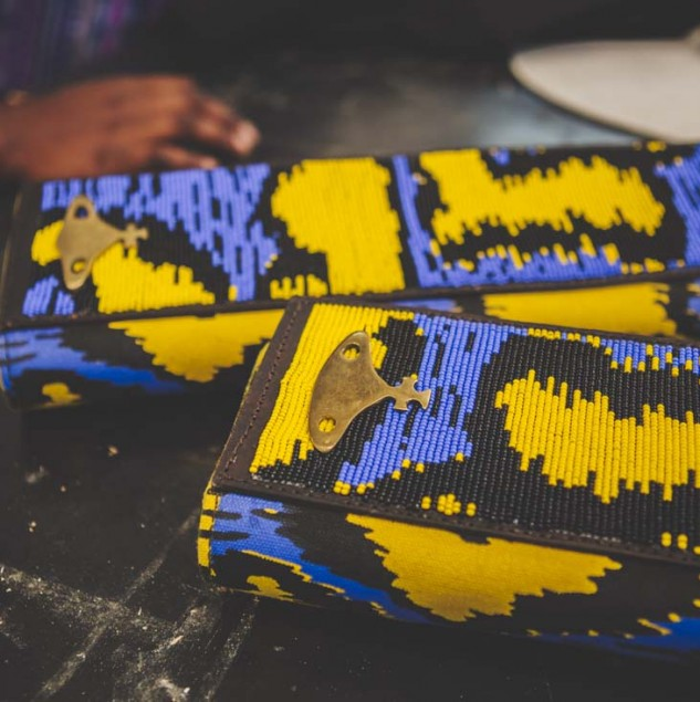 Vivienne Westwood beaded leopard clutch made by artisans in Kenya © Louis Nderi & ITC Ethical Fashion Initiative