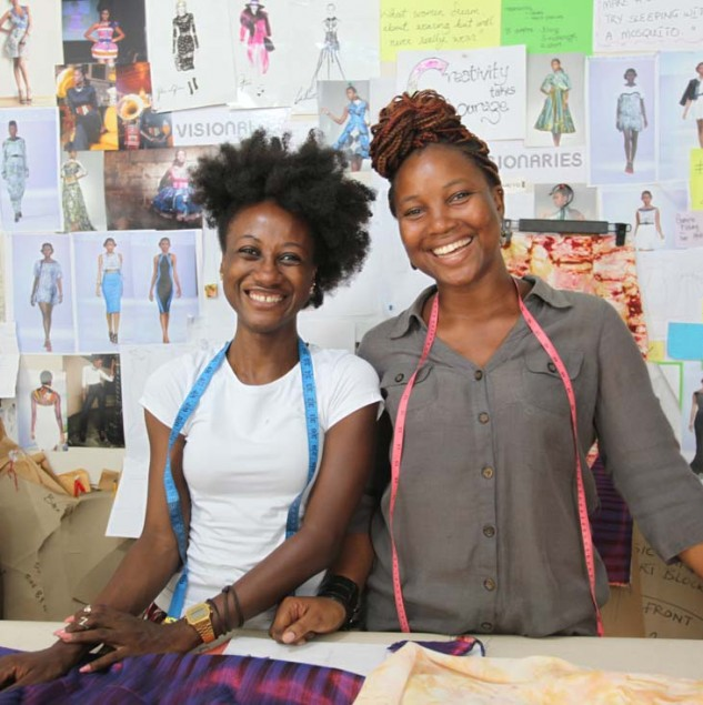 Netty Anang and Klekleli Dzidzienyo are the Ghanaian duo behind the Ameyo brand. © ITC Ethical Fashion Initiative