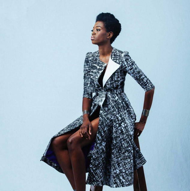 A screen-printed jacket from Ameyo's SS15 collection made in Ghana © Ameyo