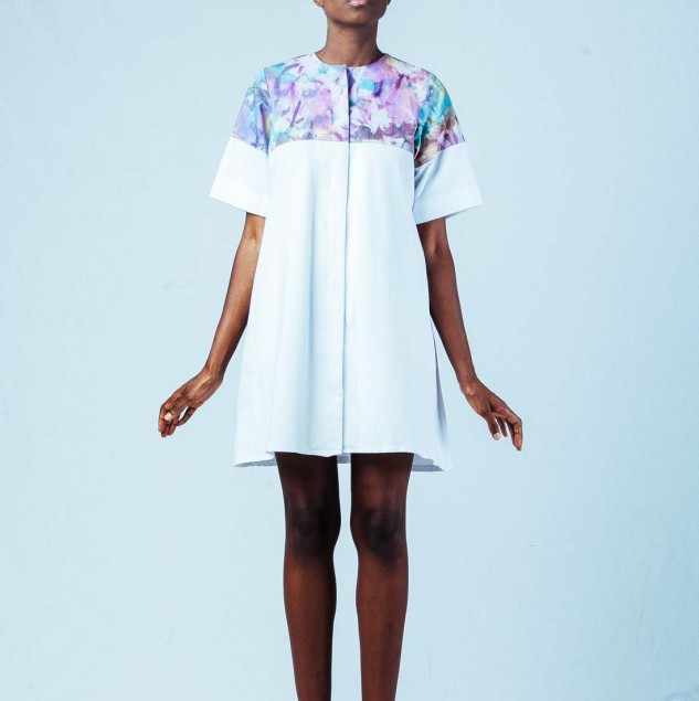 A look from Ameyo's Spring/Summer 2015 collection made by tailors in Ghana © Ameyo