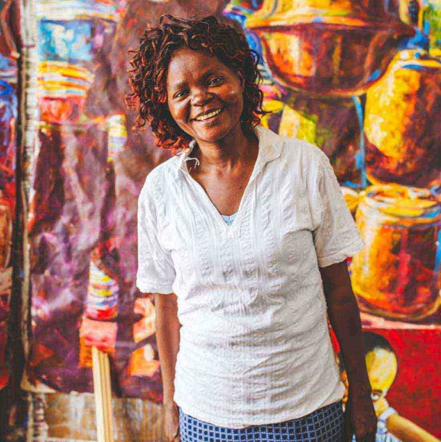 Meet Dorcas, and artisan from Kenya working at Ethical Fashion Artisans Ltd, the Ethical Fashion Initiative's social enterprise partner in Kenya. © Louis Nderi