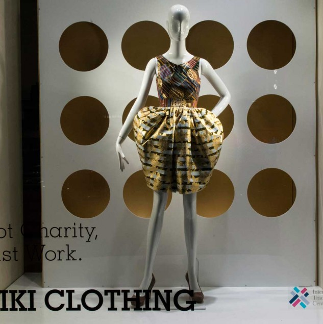 Kiki Clothing window display at Biffi Boutiques during Milan Fashion Week © Solange Souza