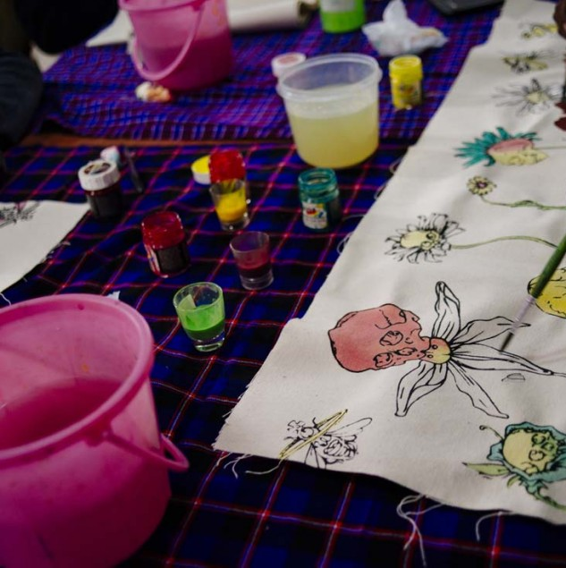 Vivienne Westwood design being hand-painted by Ethical Fashion Initiative artisans in Kenya © ITC Ethical Fashion Initiative