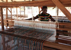 The traditional looms of Burkina Faso are used to produce high-fashion fabrics sourced around the world. This blurring of tradition and modernity reflects the Ethical Fashion Initiative's mission of returning quality and artisanal-production back to the fashion world. © ITC Ethical Fashion Initiative