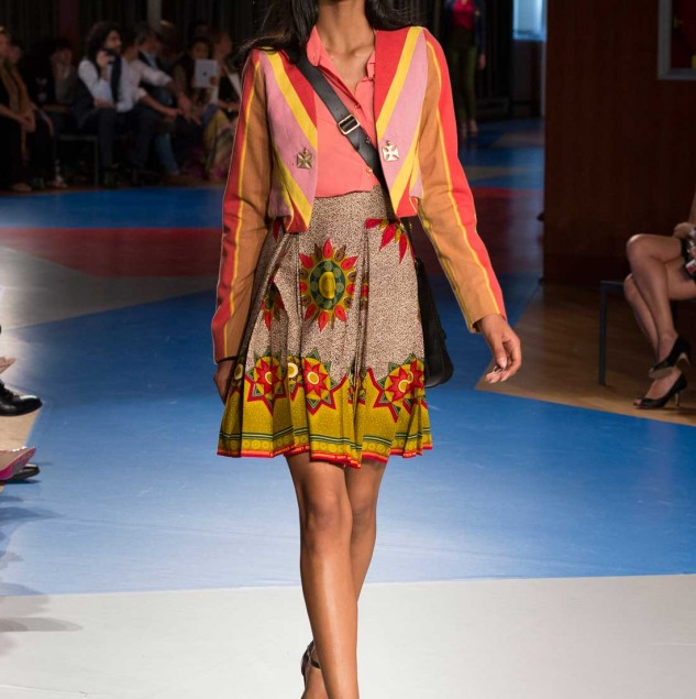 Kofi Gyedu & Leslie Wiredu's joint collection shown at IED Moda Graduate show in Milan © ITC Ethical Fashion Initiative