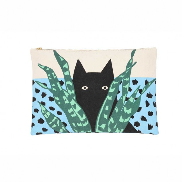 Karen Walker pouch screen-printed and assembled by artisans in Kenya part of the Ethical Fashion Initiative. © Karen Walker