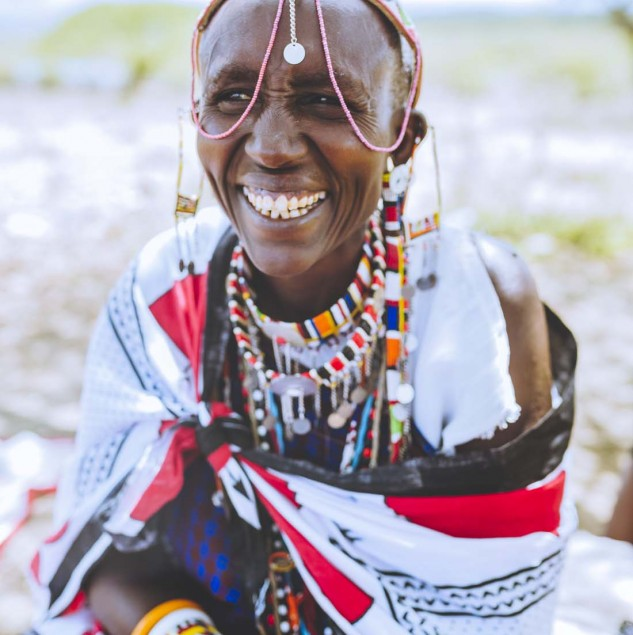 Meet Maria, a Maasai beading artisan working with the Ethical Fashion Initiative in Kenya © Louis Nderi