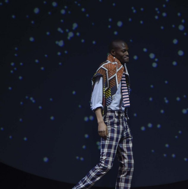 Laduma Ngxoholo at the Constellation Africa show in Florence for Pitti Uomo 88 © Pitti Immagine Giovanni Giannoni