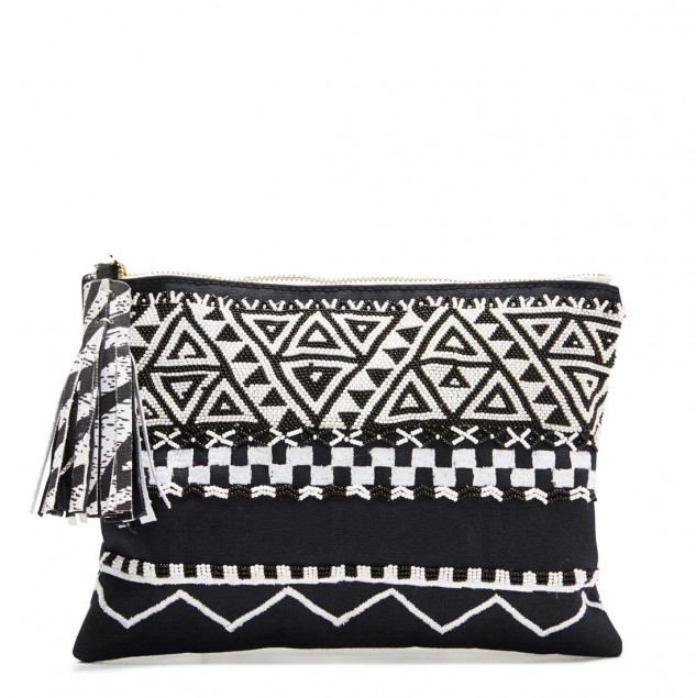 The Mimco Afrigraphico beaded pouch © Mimco