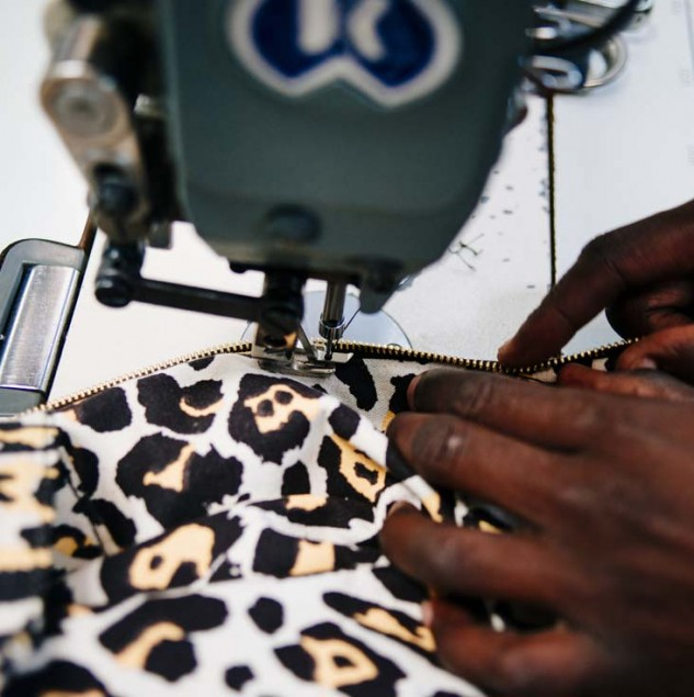 Stitching Stella McEartney's Leo collection in Kenya. The fabric design was also screen-printed by artisans in Kenya meaning more people were involved with the orders © ITC Ethical Fashion Initiative