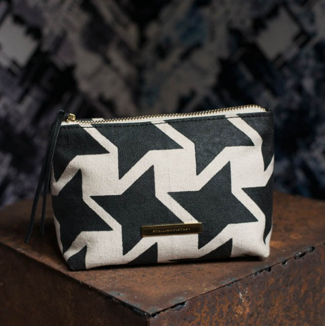 Stella McCartney Houndstooth Pouch made in Africa by Kenyan artisans part of the Ethical Fashion Initiative network. © Tahir Carl Karmali & ITC Ethical Fashion Initiative