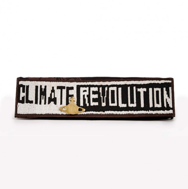 Beaded Climate Revolution clutch made by artisans in Kenya © Vivienne Westwood