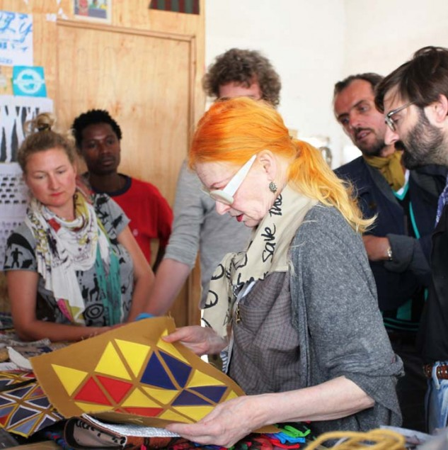 Vivienne Westwood and her team working on product development in Kenya to design her Made in Africa collection © ITC Ethical Fashion Initiative