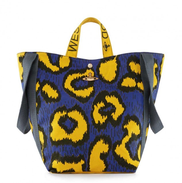 Vivienne Westwood Leopard hold-all bag part of her Spring/Summer 2015 Made in Africa collection. © Vivienne Westwood