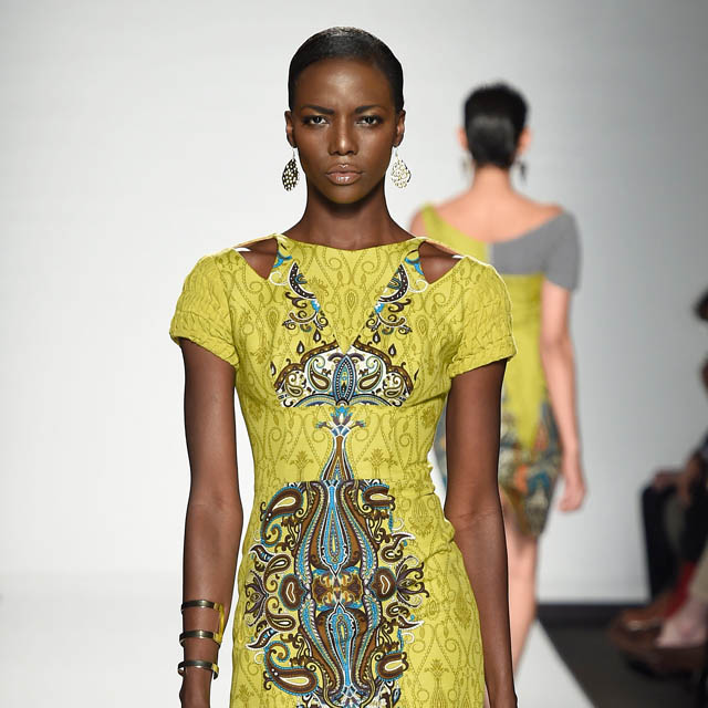 duaba serwa Spring/Summer 2015 look shown at the Beat of Africa catwalk show at Altaroma in 2014 © Altaroma