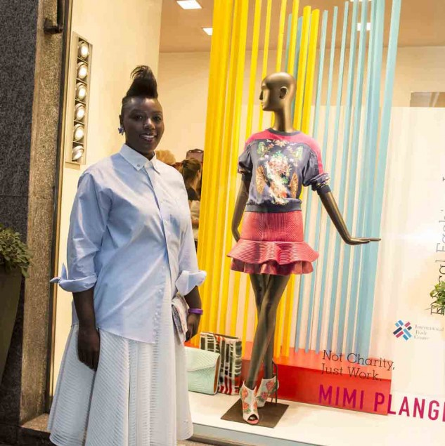 Mimi Plange in front of her Biffi Boutique window during the Beat of Africa event in Milan (c) Solange Souza