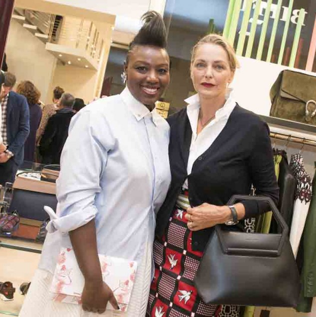 Mimi Plange with Simonetta Gianfelici at the Beat of Africa 2015 event held at Biffi Boutiques in Milan (c) Solange Souza