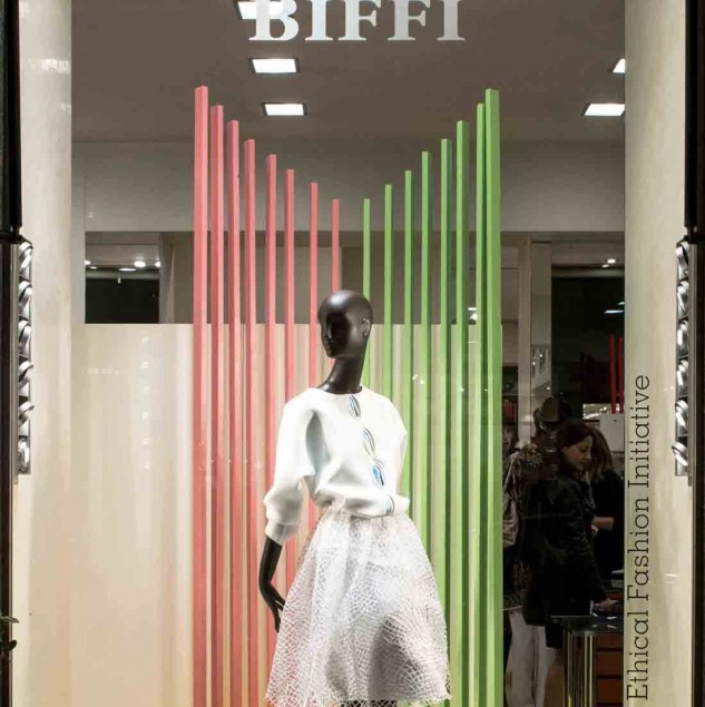 The Sophie Zinga Spring/Summer 2016 display at Biffi Boutiques (c) Solange Souza