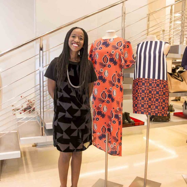 Sindiso Khumalo at Biffi Boutiques in Milan for the Beat of Africa 2014 (c) Solange Souza