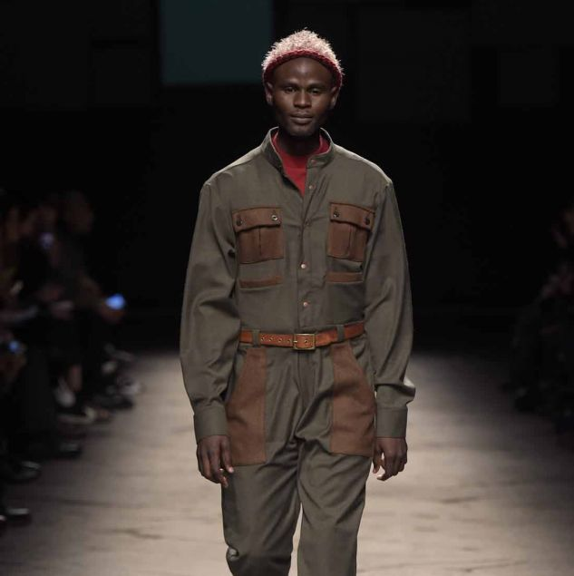 Lukhanyo Mdingi x Nicholas Coutts Autumn/Winter 2016 collection at Generation Africa © Giovanni Giannoni