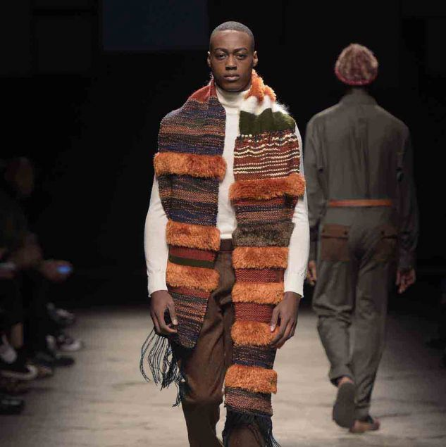 Lukhanyo Mdingi x Nicholas Coutts Autumn/Winter 2016 look at Generation Africa © Giovanni Giannoni