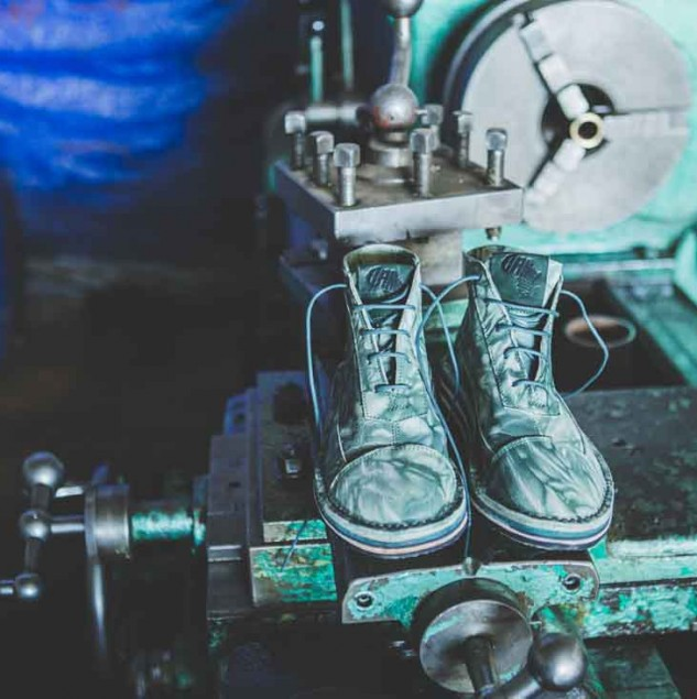 Finished Camper x EFI boots made by artisans in Ethiopia © ITC Ethical Fashion Initiative & Louis Nderi