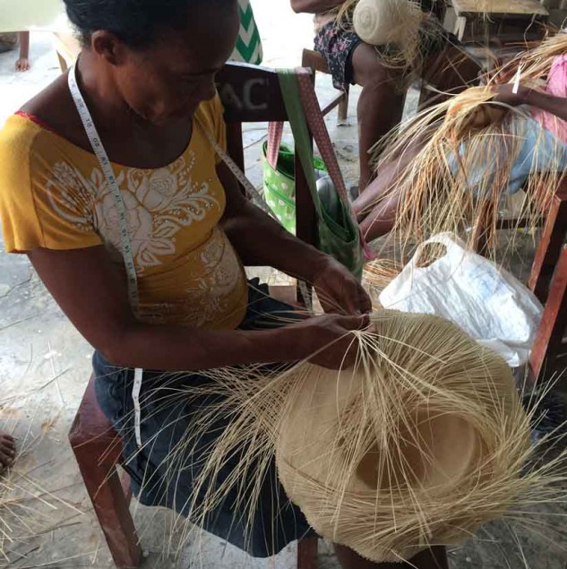 Molly Yestadt visited Haitian hat making artisans © Yestadt Millinery