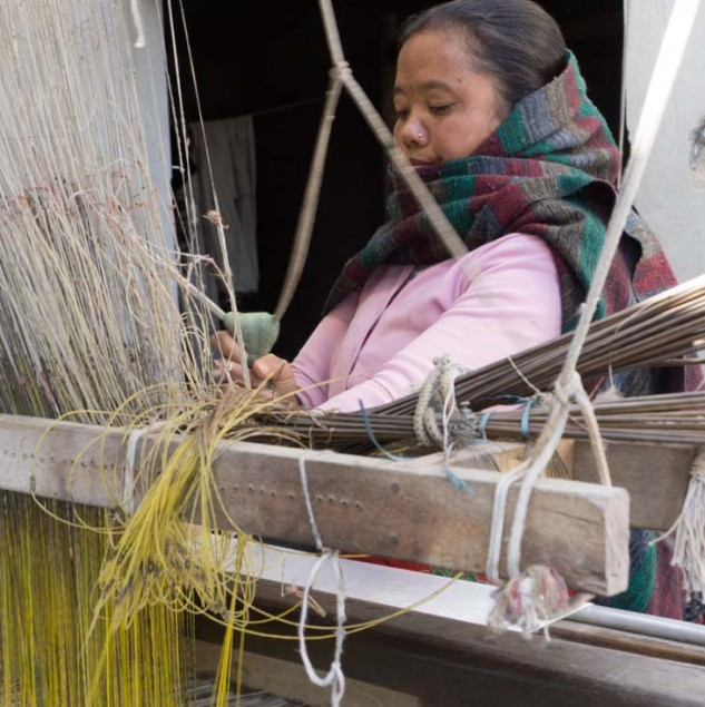Nepalese weaver working with From The Road © Susan Easton